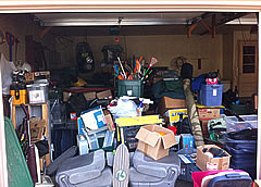 Messy garage - before